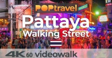 PATTAYA Walking Road / Thailand 🇹🇭- Songkran Night Tour (2019) – 4K 60fps (UHD)