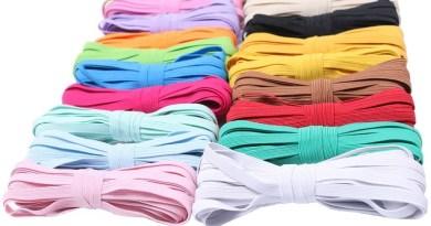 6mm Colorful Flat Elastic Bands High Elastic Rope Rubber Band Spandex Ribbon Sewing Trim Waist Belt Band Garment Accessory 5M