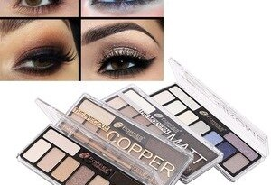 Cosmetic Eye Shadow Palette Powder Shimmer Cosmetic Waterproof Daily Long Lasting Gitter Eyeshadow