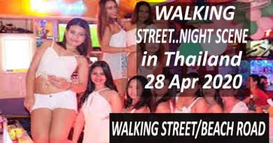 Thailand Pattaya: 28 Apr 2020 Night Scene Strolling Street | Pattaya Coastline Street |Pattaya 2nd Street Tour
