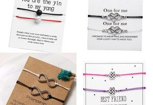 17KM Fashion Infinite Stone Couples Bracelets Set & Message Card For Women Men Best Friend Distance Bracelet 2019 Wish Jewelry