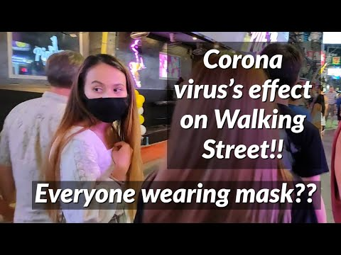Corona virus's cease on Pattaya Walking Aspect street!! All people carrying conceal??