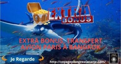 Devenir moniteur de plongée, extra bonus, transfert avion paris a bangkok,pattaya, Thailand Diving