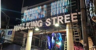 Pattaya strolling avenue Saturday night October 2019 in fact busy