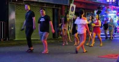 Pattaya Thailand Nightlife in Strolling Boulevard