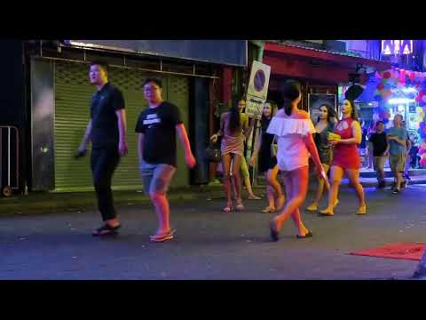 Pattaya Thailand Nightlife in Strolling Boulevard