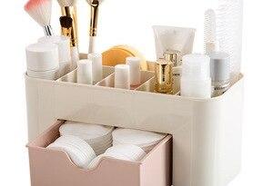 Cosmetic Organizer Saving Space Desktop Comestics Makeup Storage Drawer Box Compartment Tool Penteadeira Makeup Organizers