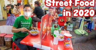 Street Food in 2020 😷 Thai Food SOCIAL DISTANCING in Bangkok, Thailand! 🇹🇭