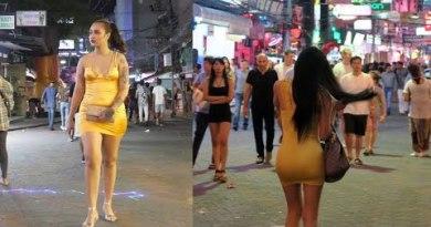 PICKING UP GIRLS ON PATTAYA WALKING STREET FOR THREESOME