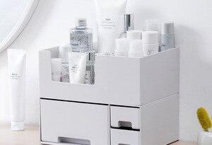 Cosmetic Storage Box Makeup Organizer Bathroom Storage Box Cosmetic Organiser Office Desktop MakeUp Jewelry Lipstick Storage Box