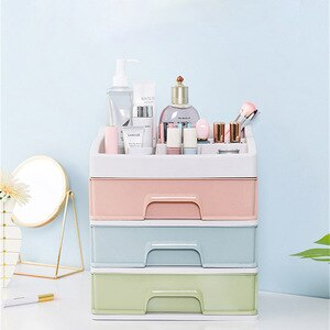 Cosmetic Storage Box Drawer Plastic Cosmetic Storage Box Jewelry Box Cosmetic Brush Holder