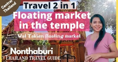 Floating market in the temple   Commute Thailand   Bangkok   Teya Suchira
