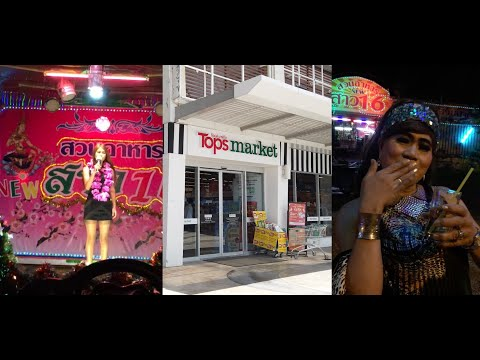 A taking a check outing to Tops market, Pattaya, Thailand and a Ladyboy for appropriate measure (because why no longer?)