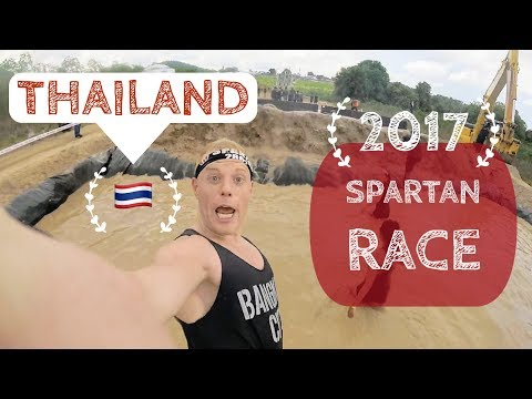 The Spartan Trail Thailand.. VLOG!! 🌴 Pattaya Sea toddle, 2017 Inaugural (Bangkok)
