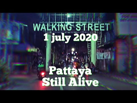 Strolling Avenue Pattaya aloof alive. 1 july 2020. The Bars and Golf equipment opened