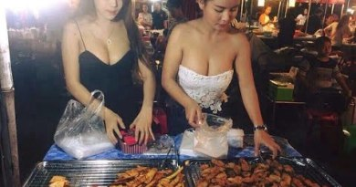 Meals having a ticket at my local Thai food market in Pattaya Thailand. Chicken, fish and frogs all new ..
