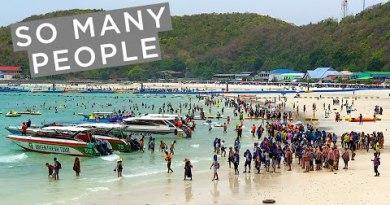 BUSIEST BEACH NEAR BANGKOK | Tawaen Beach, Koh Larn Island, Pattaya, Thailand