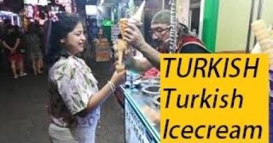 Turkish ice cream in Strolling avenue Pattaya| Girl will get pranked in Pattaya  #thebohemiandreamer