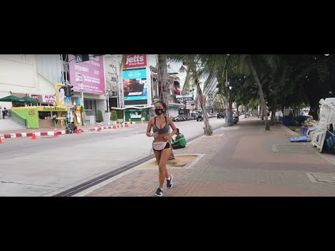 5:00PM Pattaya Beach road After lock down on  6 / August/ 2020