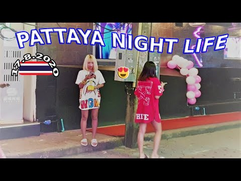 Pattaya, 17.8.2020, Walking Aspect road, Lovely ladies, Bars, Restaurants, commence, No Vacationers, Thai woman