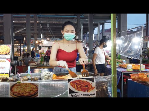 No more vacationers or foreigners at Pattaya native market in Thailand