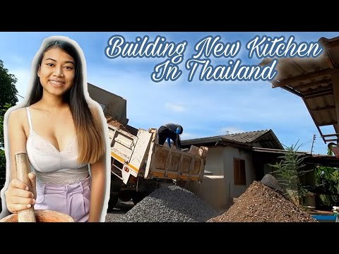 Thai Lady Constructing A Novel Kitchen For Her Family | Existence in Thailand