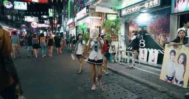 Walking side road Pattaya After Dull night