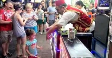 Turkish icecream store within the Walking Avenue in Pattaya
