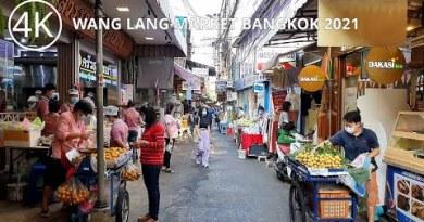 [4K] Wang Lang Market Stroll in Bangkok, Thailand (Jan 2021)