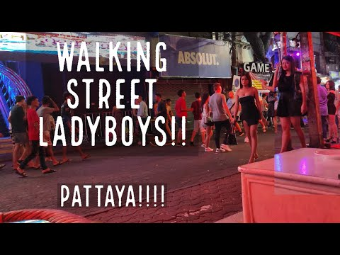 LADYBOYS of Pattaya!!!Walking Boulevard!!