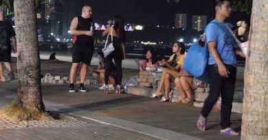Pattaya Sea wander Road   Night Scenes