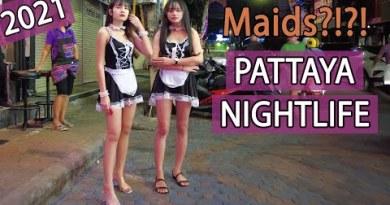 Pattaya Nightlife 2021 | Maids in Walking Avenue!! – February 2021