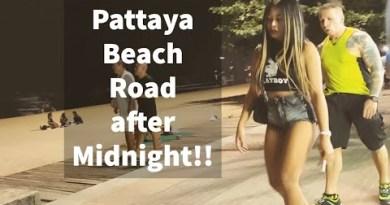 Pattaya Beach Road after Dull evening!!