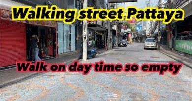 Pattaya Walking street. Plug in the day – so empty!!!!!