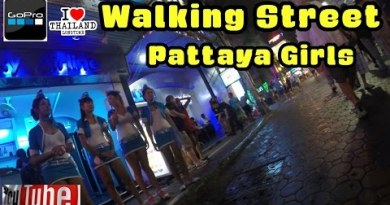 Pattaya Girls Walking Boulevard Thailand 1st November 2014