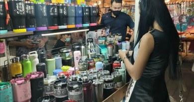 Pattaya Night Market, She Purchase Mug For Her Farang BF!