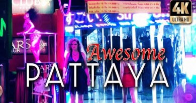 """Strolling Around """"Pattaya Strolling Avenue"""" at night time 4K 