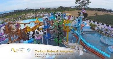 Cartoon Community Amazone Water Park in Pattaya, Thailand