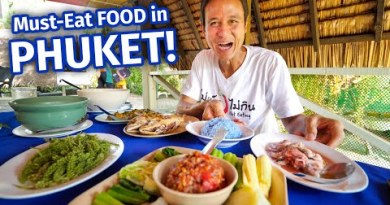 Drinking 21 SPICY THAI FOODS in One Day!! | 3 MUST-EAT Drinking locations in Phuket, Thailand!