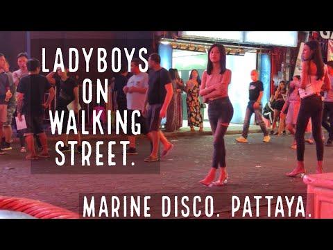Walking Aspect toll road LADYBOYS!! Marine Disco!!Pattaya!!