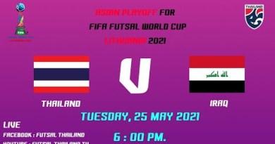 Asian Playoff for FIFA Futsal World Cup Lithuani2021 Thailand – Iraq