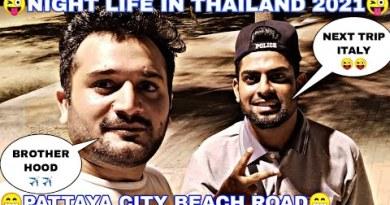 Beach avenue in Pattaya City _ Thailand visa change 2021 _ Brother hood vlogs _ Thailand Bangkok night