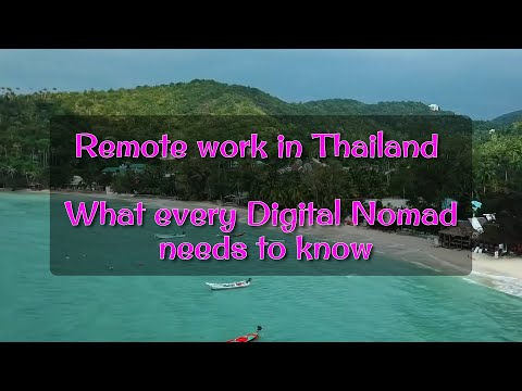 Distant work in Thailand – What every Digital Nomad ought to know !