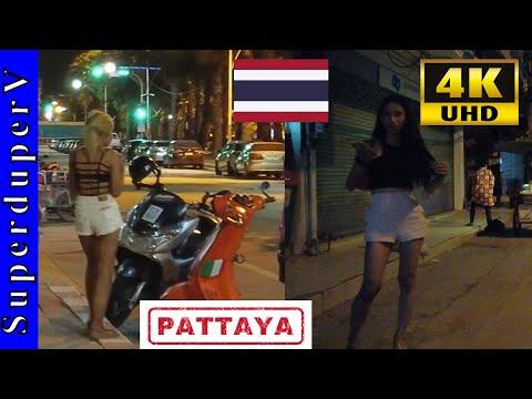 Sea wander Dual carriageway Pattaya Unfamiliar Freelancers Night Stroll 4K Soi Buakhao Bars Girls Nightlife September 2021