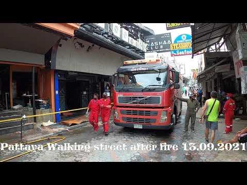 Pattaya Walking avenue after fireplace 13.09.2021