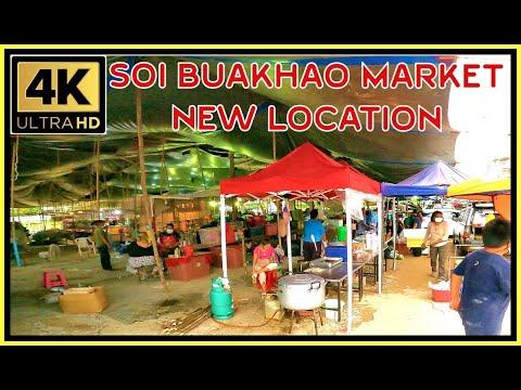 Where Soi Buakhao Market moved 17 September 2021 Pattaya Thailand 4K Extremely HD