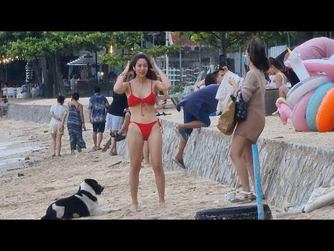 Dongtan, Pattaya Shoreline and S Pattaya Rd, Na Kluea Shoreline   11 Sep 2021   Thailand 4K
