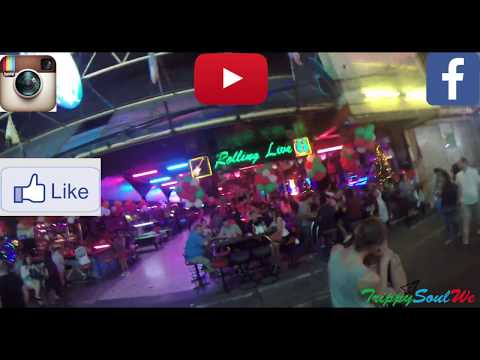Pattaya Nightlife   Walking Facet road at the time of Christmas