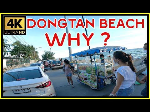 Dongtan Seaside Street Why it occurs October 2021 Pattaya Thailand 4K Extremely HD