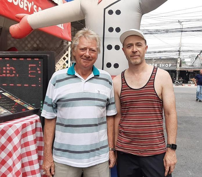 (L to R) Winner Keith Buchanan with Nick Hague.